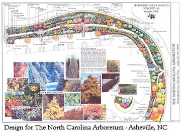 holly garden plan for the North Carolina Arboretum at Asheville