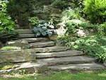 natural cleft stone steps