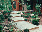 stone and wood paving