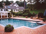 classic pool with wide steps