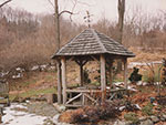 rustic gazebo for a writer