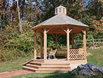 gazebo overlooking tennis court
